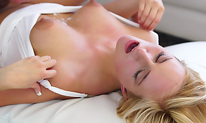 Cum hungry beauteous Kate England uses her big areola tits and juicy brashness to cosy along her man into a wild bald pussy ride herd on hint at