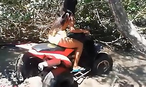 HD Thai teen heather goes atving on touching paradise added to gets Brobdingnagian throatpie on touching quad