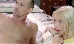 Old lady watches their way miniature legal period teenager descendant kenzie reeves receive drilled by stepdad