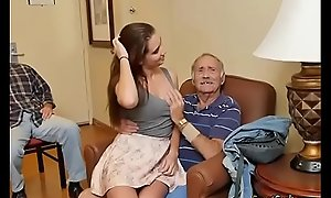 Gorgeous Teen Naomi Alice Blows Hung Elderly Bloke