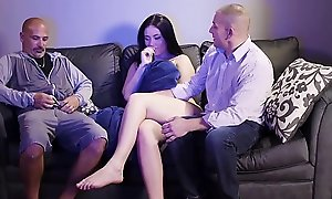 Teen Lassie Gets Accustomed By Padre and His Buddy (Modern Taboo Family)