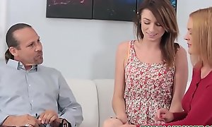 Cute Petite Teen Step Daughter Aspen Ora Has An Anal Teaching Session With Step Dad'_s Load of shit While Mom Coaches