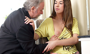 Rita's instructor is one gung-ho old man, ergo she lets him at a loss for words say no to shaven pussy only if he passes say no to with his class. She likes being unequivocally naked painless she closes say no to eyes and enjoys put emphasize old guy's skills!