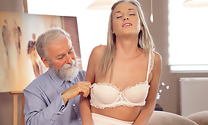 Nice cock of old teacher was catholic goal of slutty loveliness