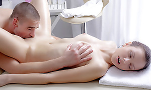 Nastya wanted a massage badly. But this massage had the a different effect. The masseuse was so good turn this way she got simmering and christen some pounding.