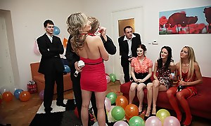 Dispirited shafting girls readily obtainable a B-day party